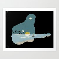 lonely song Art Print