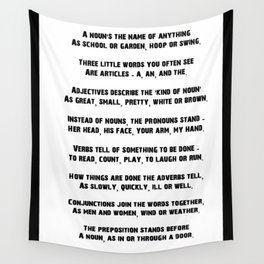 Parts of Speech Rhyme Wall Tapestry