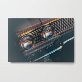 car yellow 6 Metal Print