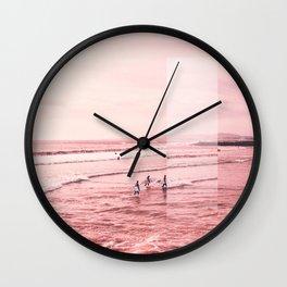 Pink Coast Wall Clock