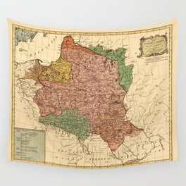 Map Of Poland 1770 Wall Tapestry