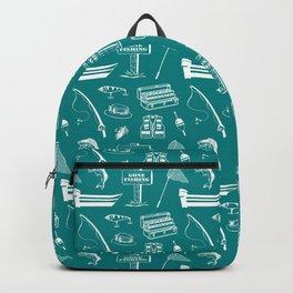 Gone Fishing // Teal Backpack