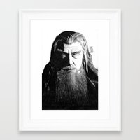 gandalf Framed Art Prints featuring Gandalf by Mike