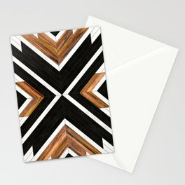Urban Tribal Pattern 1 - Concrete and Wood Stationery Cards