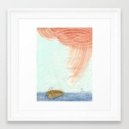 The Tern in his Boat Framed Art Print