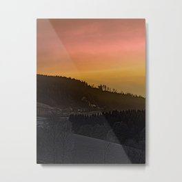 Winter sunrise over the mountains II | landscape photography Metal Print