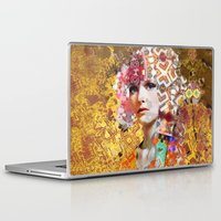rose gold Laptop & iPad Skins featuring Rose. Gold by Steve W Schwartz Art