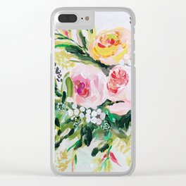 Peony bouquet Clear iPhone Case