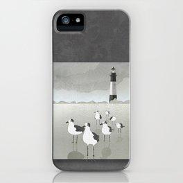 Seagulls Lighthouse iPhone Case
