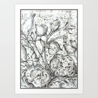 lace Art Prints featuring Lace by Irina  Mushkar'ova