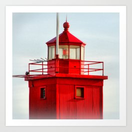 Big Red Lighthouse Art Print