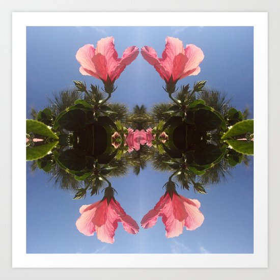 Hibiscus Reflection Art Print