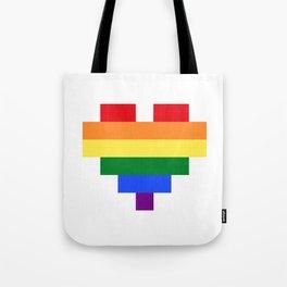 LGBT Heart Tote Bag