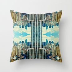 NYC in patterns Throw Pillow