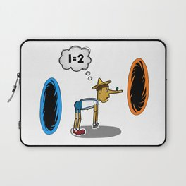 Pinocchio playing Portal Laptop Sleeve