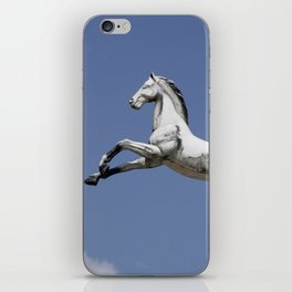 Escaped carousel horse iPhone Skin