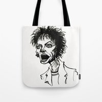 wes anderson Tote Bags featuring Laurie Anderson by Simone Bellenoit : Art & Illustration
