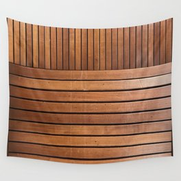 wood slats Wall Tapestry