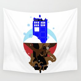 Upside Down Time Travel Wall Tapestry