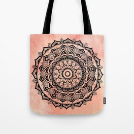 Desert Rose Mandala Tote Bag