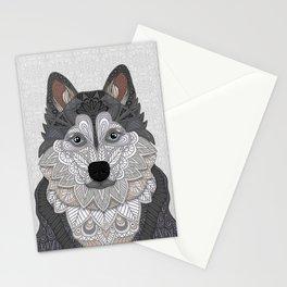Husky Portrait Stationery Cards