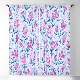 Fire Flower - Light Pink Blackout Curtain