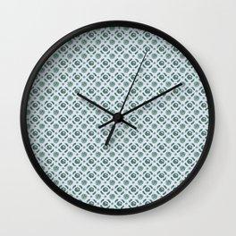 Blue Brassicas Wall Clock