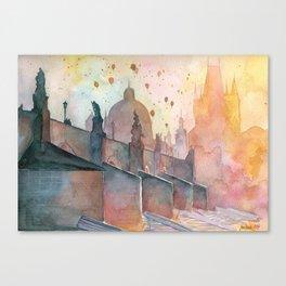 Charles Bridge, Prague Canvas Print