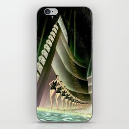 'We Came Here to Shine' - Billy Rose's Acquacade Art Deco 1920's Theatrical Portrait iPhone Skin