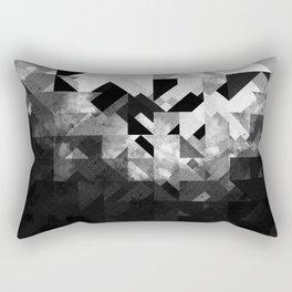 Abstract Black Geometric Rectangular Pillow