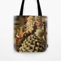 santa Tote Bags featuring Santa by Cindy Munroe Photography