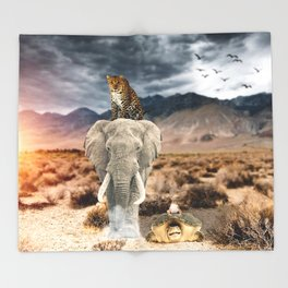 Who's the King ? by GEN Z Throw Blanket
