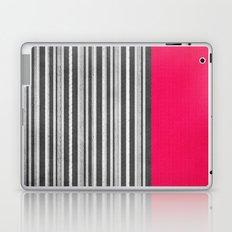 Pink Gray Stripes Laptop & iPad Skin