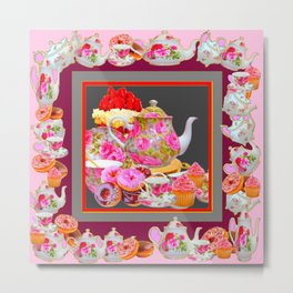 AFTERNOON TEA PARTY  & PASTRY  DESSERTS Metal Print