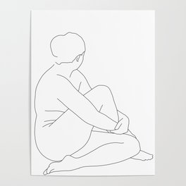Nude life drawing figure - Brit Poster