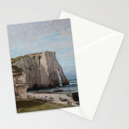 The Etretat Cliffs after the Storm - Gustave Courbet Stationery Cards