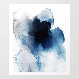 Blue-oom. Art Print