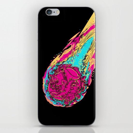 dinosaur asteroid iPhone & iPod Skin