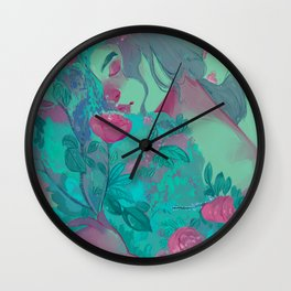 The flowers of evil Wall Clock