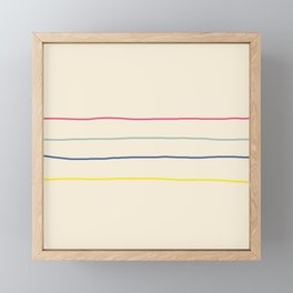 Abstract Retro Lines #1 Framed Mini Art Print