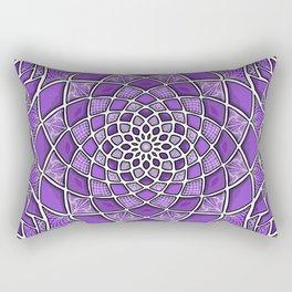 12-Fold Mandala Flower in Purple Rectangular Pillow