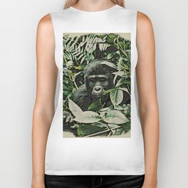 Animal ArtStudio 22516 Gorilla Baby Biker Tank