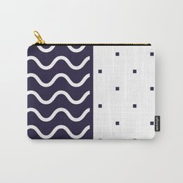 Background in Neo Memphis Style Colorful Decorative pattern Carry-All Pouch