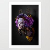 Violet Harvest Muertita Art Print