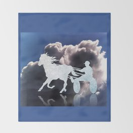 Chariots of Fire - Harness Racing Throw Blanket