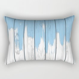 Paint blue on wood Rectangular Pillow