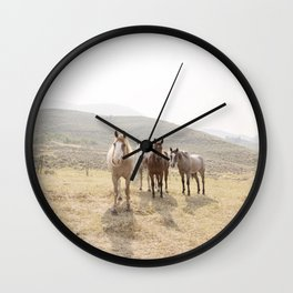 Mountain Horses Wall Clock