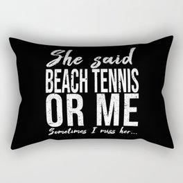 Beach Tennis funny sports gift Rectangular Pillow