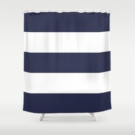 NAVY & WHITE STRIPE Shower Curtain