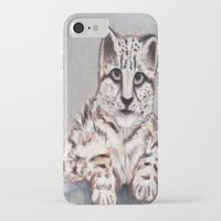 snow leopard iPhone & iPod Cases featuring Snow Leopard by RakMeowww